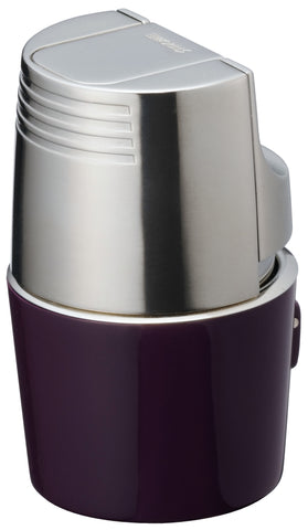 Sarome Flat Triple Torch  Cigar Cigarette TABLE Lighter  T3BM1-04 Silver/ Purple