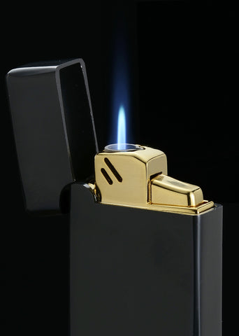 Sarome Torch  Cigar Cigarette Lighter BM15-06 Brass barrel finish / Gold satin 0.2μ