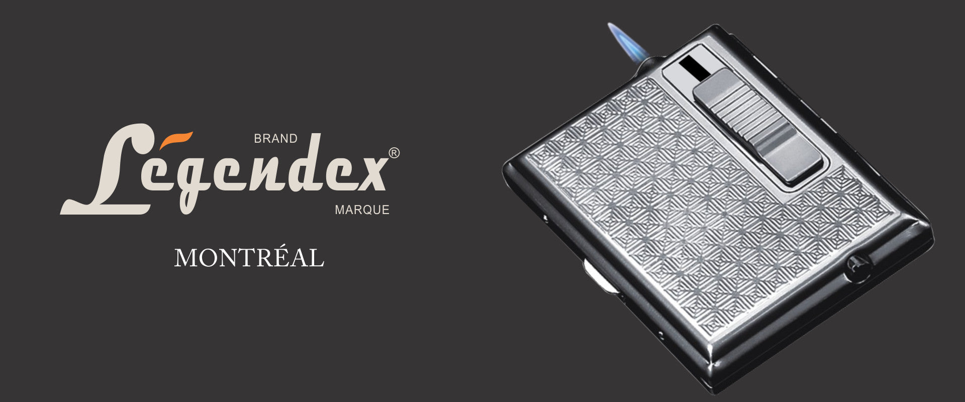 Legendex Metal Cigarette Case Built-in Turbo Windproof Lighter