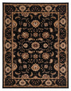 "Brillante Machine Made Ebony Area Rug (4'11"" x 7'8"" Rectangle) - Sky Home Decor"