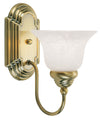 Livex Lighting Belmont Antique Brass Bath Light 1001-01