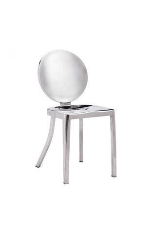 Zuo Mod Autumn Dining Chair Polished Stainless Steel