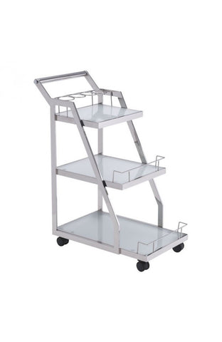 Zuo Mod Acropolis Serving Cart Stainless Steel