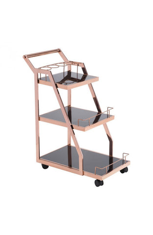 Zuo Mod Acropolis Serving Cart Rose Gold