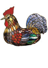 "Meyda 14""H Tiffany Rooster Accent Lamp"