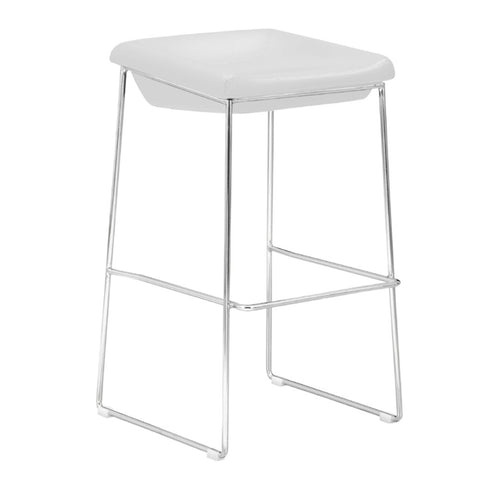 Fine Mod Imports Indent Bar Stool, White - Sky Home Decor
