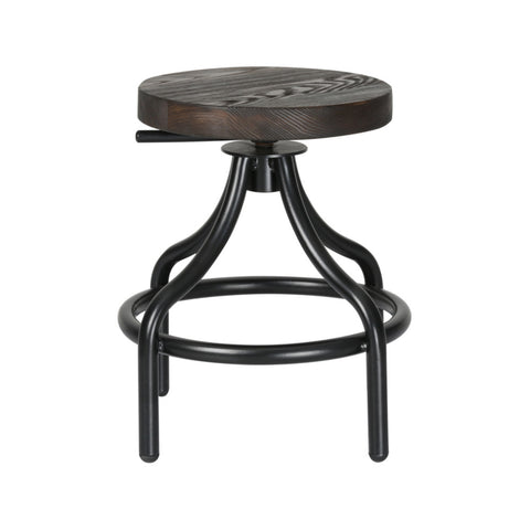 Fine Mod Imports Alta Stool, Walnut - Sky Home Decor