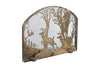 "Meyda 39.5""W X 30""H Deer On The Loose Arched Fireplace Screen"