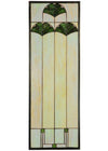 "Meyda 11.125""W X 32.125""H Ginkgo Stained Glass Window"