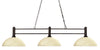 Z-Lite Challenger 127-3BRZ-DGM14 Island/Billiard Light