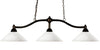 Z-Lite Chance 147BRZ-AMO14 Island/Billiard Light