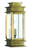 Livex Lighting Princeton Antique Brass Wall Lantern 2013-01