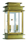 Livex Lighting Princeton Antique Brass Wall Lantern 2014-01