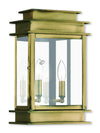 Livex Lighting Princeton Antique Brass Wall Lantern 2016-01