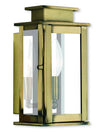 Livex Lighting Princeton Antique Brass Wall Lantern 20191-01