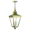 Livex Lighting Cambridge Antique Brass Outdoor Chain-Hang Lantern 2035-01