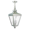 Livex Lighting Cambridge Brushed Nickel Outdoor Chain-Hang Lantern 2035-91