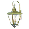 Livex Lighting Cambridge Antique Brass Outdoor Wall Lantern 2036-01