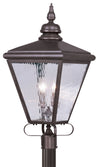 Livex Lighting Cambridge Bronze Outdoor Post Lantern 2038-07