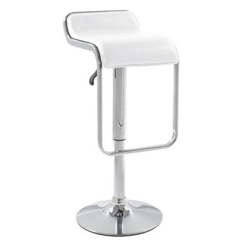 Fine Mod Imports Flat Bar Stool Chair, White - Sky Home Decor