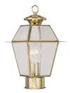 Livex Lighting Westover Polished Brass Outdoor Post Lantern 2182-02