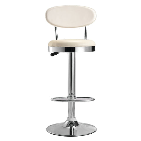 Fine Mod Imports Beer Bar Stool Chair, White - Sky Home Decor