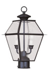 Livex Lighting Westover Bronze Outdoor Post Lantern 2284-07