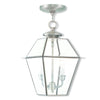 Livex Lighting Westover Brushed Nickel Outdoor Chain-Hang Lantern 2285-91