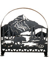 "Meyda 30""W X 30""H Bear Creek Arched Fireplace Screen"