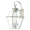 Livex Lighting Westover Brushed Nickel Outdoor Wall Lantern 2381-91