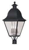 Livex Lighting Amwell Black Outdoor Post Lantern 2548-04