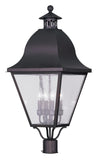 Livex Lighting Amwell Bronze Outdoor Post Lantern 2548-07