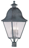 Livex Lighting Amwell Charcoal Outdoor Post Lantern 2548-61