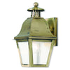 Livex Lighting Amwell Antique Brass Outdoor Wall Lantern 2550-01