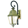 Livex Lighting Amwell Antique Brass Outdoor Wall Lantern 2551-01