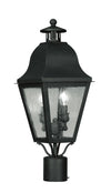 Livex Lighting Amwell Black Outdoor Post Lantern 2552-04
