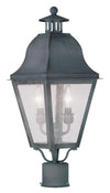 Livex Lighting Amwell Charcoal Outdoor Post Lantern 2552-61