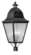 Livex Lighting Amwell Black Outdoor Post Lantern 2554-04