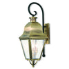 Livex Lighting Amwell Antique Brass Outdoor Wall Lantern 2555-01