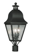 Livex Lighting Amwell Black Outdoor Post Lantern 2556-04