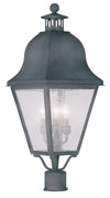 Livex Lighting Amwell Charcoal Outdoor Post Lantern 2556-61