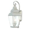Livex Lighting Exeter Brushed Nickel Outdoor Wall Lantern 2593-91