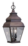 Livex Lighting Exeter Bronze Outdoor Chain Lantern  2595-07