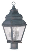 Livex Lighting Exeter Charcoal Outdoor Post Lantern 2603-61