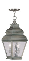 Livex Lighting Exeter Vintage Pewter Outdoor Chain Lantern  2604-29