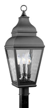 Livex Lighting Exeter Black Outdoor Post Lantern 2606-04