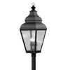 Livex Lighting Exeter Black Outdoor Post Lantern 2608-04