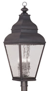 Livex Lighting Exeter Charcoal Outdoor Post Lantern 2608-07