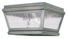 Livex Lighting Exeter Vintage Pewter Outdoor Ceiling Mount 2611-29