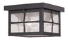 Livex Lighting Brighton Hammered Bronze Finish Outdoor Ceiling Mount 2688-07